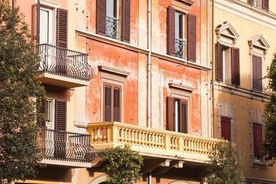 Building Facades in the City of Bologna, Emilia-Romagna, Italy, Europe