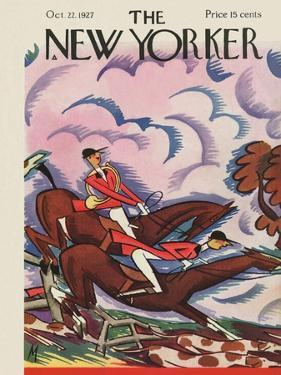 The New Yorker Cover - October 22, 1927 by Julian de Miskey