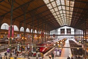 A Busy Gare Du Nord Station in Paris, France, Europe by Julian Elliott