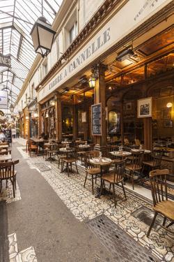 A cafe in Passage des Panoramas, Paris, France, Europe by Julian Elliott