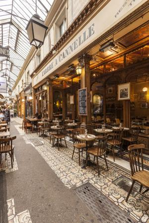 A cafe in Passage des Panoramas, Paris, France, Europe by Julian Elliott