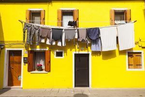 A Colorful House on Burano, Venice, Veneto, Italy, Europe by Julian Elliott