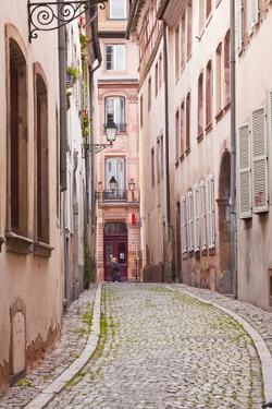 A Narrow Backstreet in the La Petite France by Julian Elliott