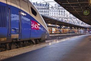 A Tgv Awaits Departure at Gare De L'Est in Paris, France, Europe by Julian Elliott
