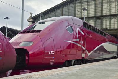 A Thalys High Speed Train Awaits Departure at Gare Du Nord Railway Station, Paris, France, Europe by Julian Elliott
