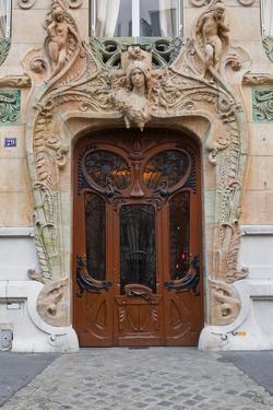 An Art Nouveau Doorway in Central Paris, France, Europe by Julian Elliott