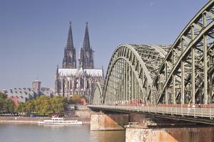 Cologne Cathedral (Dom) across the River Rhine, Cologne, North Rhine-Westphalia, Germany, Europe by Julian Elliott