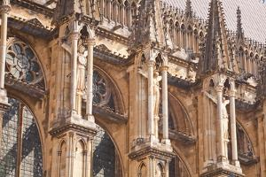 Detail of the Gothic Architecture on the Southern Facade of Notre Dame De Reims Cathedrall by Julian Elliott