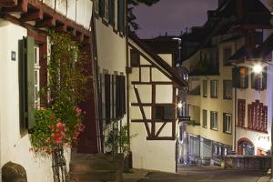 Half Timbered Houses in the City of Basel, Switzerland, Europe by Julian Elliott