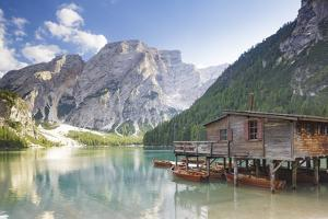 Lago di Braies in the Dolomites, Sud Tyrol, Italy by Julian Elliott