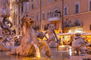 Piazza Navona in Rome, Lazio, Italy, Europe by Julian Elliott