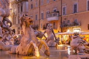 Piazza Navona in Rome, Lazio, Italy, Europe by Julian Elliott