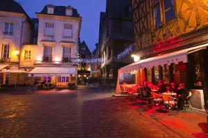 Place Plumereau in Vieux Tours on a Late December Evening, Tours, Indre-Et-Loire, France, Europe by Julian Elliott