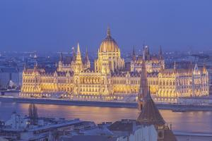 Sitting on the banks of the River Danube, the Hungarian Parliament Building by Julian Elliott