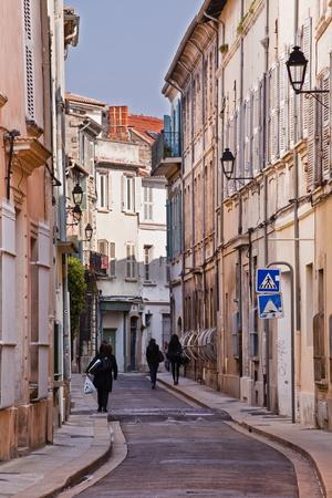 Street Scene in the Old Part of the City of Avignon, Vaucluse, France, Europe