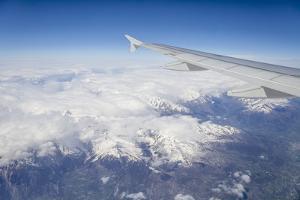 The Alps from a Commercial Flight, France, Europe by Julian Elliott