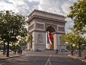 The Arc de Triomphe on the Champs Elysees in Paris, France, Europe by Julian Elliott