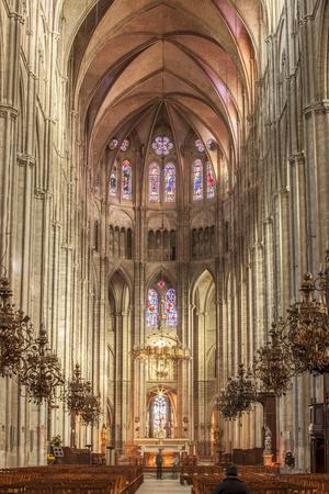 The cathedral of Saint Etienne, Bourges, UNESCO World Heritage Site, Cher, France, Europe