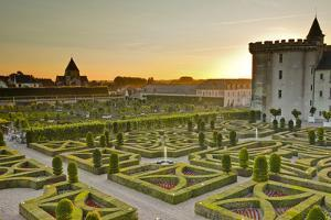The Chateau De Villandry and its Gardens at Sunset by Julian Elliott