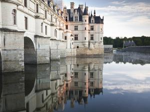The Chateau of Chenonceau Reflecting in the Waters of the River Cher, UNESCO World Heritage Site, I by Julian Elliott