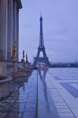 The Eiffel Tower under Rain Clouds, Paris, France, Europe by Julian Elliott