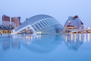 The Hemsiferic and El Palau De Les Arts Reina Sofia in the City of Arts and Sciences, Valencia by Julian Elliott