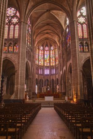 The Interior of Saint Denis Basilica in Paris, France, Europe
