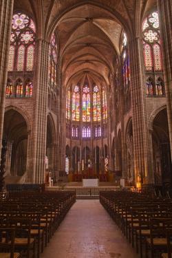 The Interior of Saint Denis Basilica in Paris, France, Europe by Julian Elliott