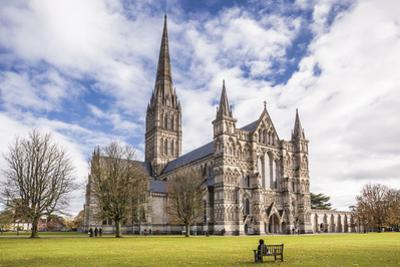 The magnificent Salisbury cathedral, Salisbury, Wiltshire, England, United Kingdom, Europe by Julian Elliott