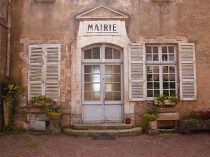 The Mairie (Town Hall), Vezelay, Yonne, Burgundy, France, Europe by Julian Elliott