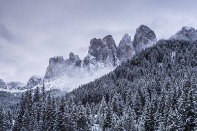 The Odle Mountains in the Val di Funes, Dolomites. by Julian Elliott