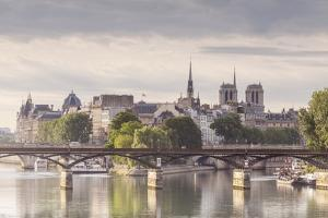The Pont Des Arts with Ile De La Cite in the Background, Paris, France, Europe by Julian Elliott