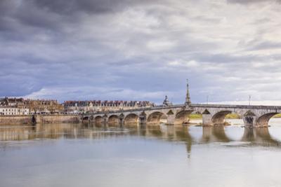 The Pont Jacques-Gabriel across the River Loire in Blois, Loir-et-Cher, Centre-Val de Loire, France by Julian Elliott