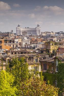 The Rooftops of Rome with Il Vittoriano by Julian Elliott