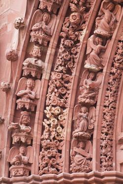 The Tympanum on Basel Munster (Minster) Cathedral, Basel, Switzerland, Europe by Julian Elliott