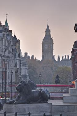 Trafalgar Square and Big Ben at Dawn, London, England, United Kingdom, Europe by Julian Elliott