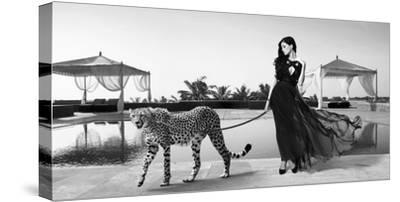 Woman with Cheetah