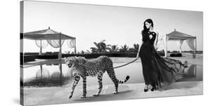 Woman with Cheetah by Julian Lauren