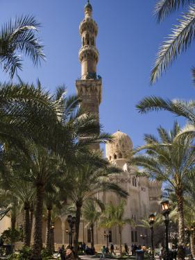 Families Relax after Prayers in Tree-Lined Garden of Abu Al-Abbas, Al-Mursi Mosque, Alexandria by Julian Love