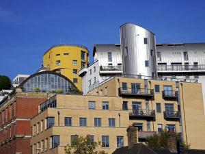 Modern Architecture Mixes with Old Along the South Bank of the Thames Near Tate by Julian Love