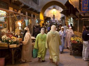 Street Life on Talaa Kbira in the Old Medina of Fes, Morocco by Julian Love