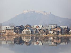 The Fort Looks over Dal Lake at Srinagar, Kashmir, India by Julian Love