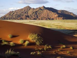 View of Naukluft Mountains from Elim Dune Near Sesriem in Namib-Naukluft National Park, Namibia by Julian Love