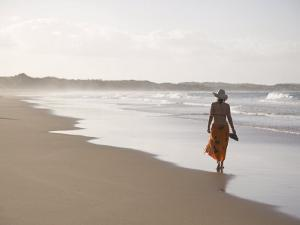 Young Woman on Tofo Beach Near Inhambane in Southern Mozambique by Julian Love