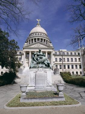Confederate Women Monument Outside Mississippi State Capitol, Jackson, Mississippi, North America by Julian Pottage