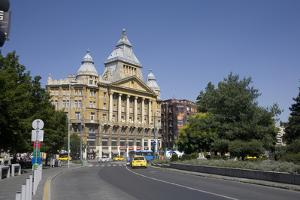 Deak Ferenc Square with the Former Anker Palace, Budapest, Hungary, Europe by Julian Pottage