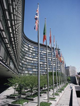 Flags of Eu Member Countries, Brussels, Belgium
