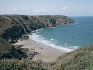 Plemont Bay from Clifftop, Greve Aulancon, Jersey, Channel Islands, United Kingdom by Julian Pottage
