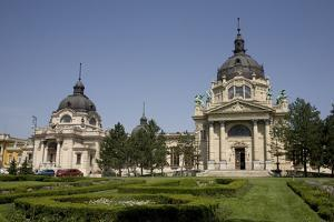 Szechenhyi Baths with its Main Dome and Northern Dome, Budapest, Hungary, Europe by Julian Pottage