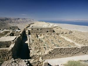 View North to Ruins of Northern Palace from Store Rooms Lookout, Masada National Park, Dead Sea by Julian Pottage